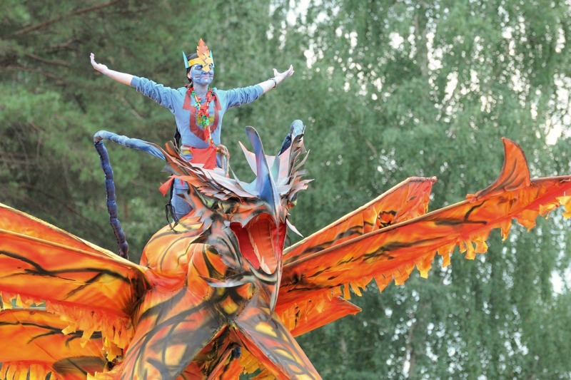 Карнавал в городе Заречном Свердловской области