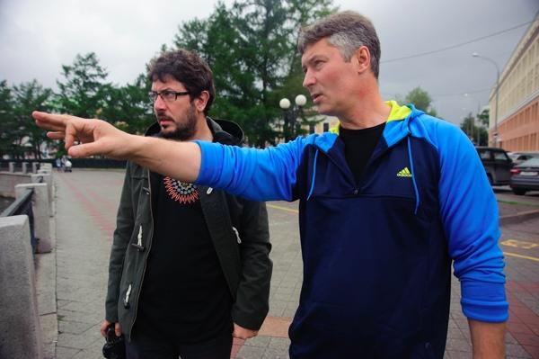 Артемий Лебедев и Евгений Ройзман гуляют по Екатеринбургу