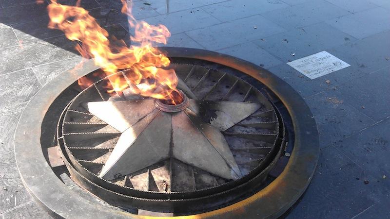 Вечный огонь в городе Заречном